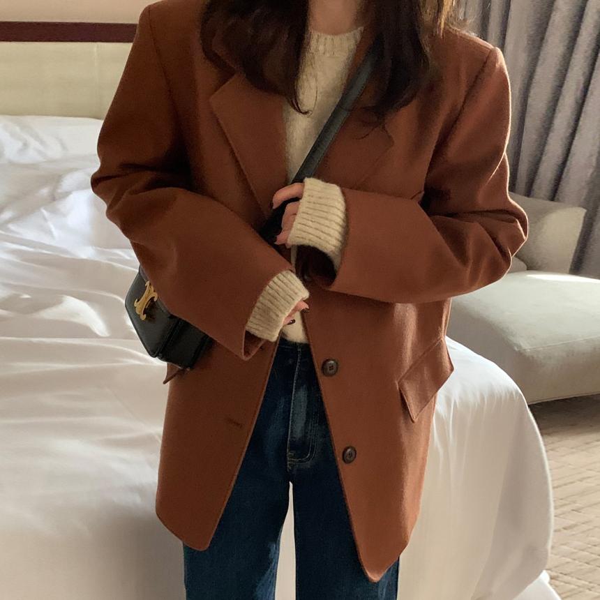 루디 울 싱글 자켓 3color