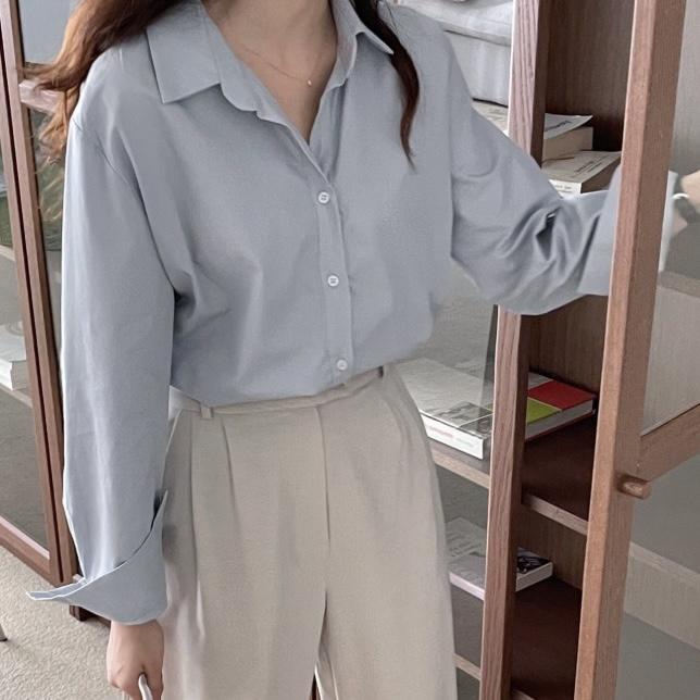 텐셀 언발 셔츠 4color